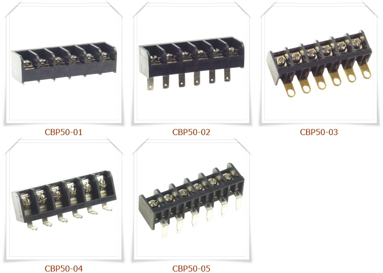 CBP50 後擋板柵欄式接線端子台,PCB端子台